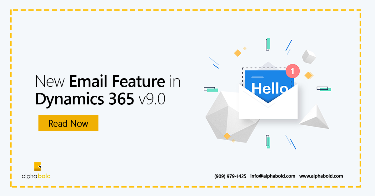 new email feature of dynamics 365