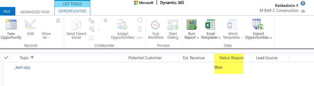 advanced find in crm