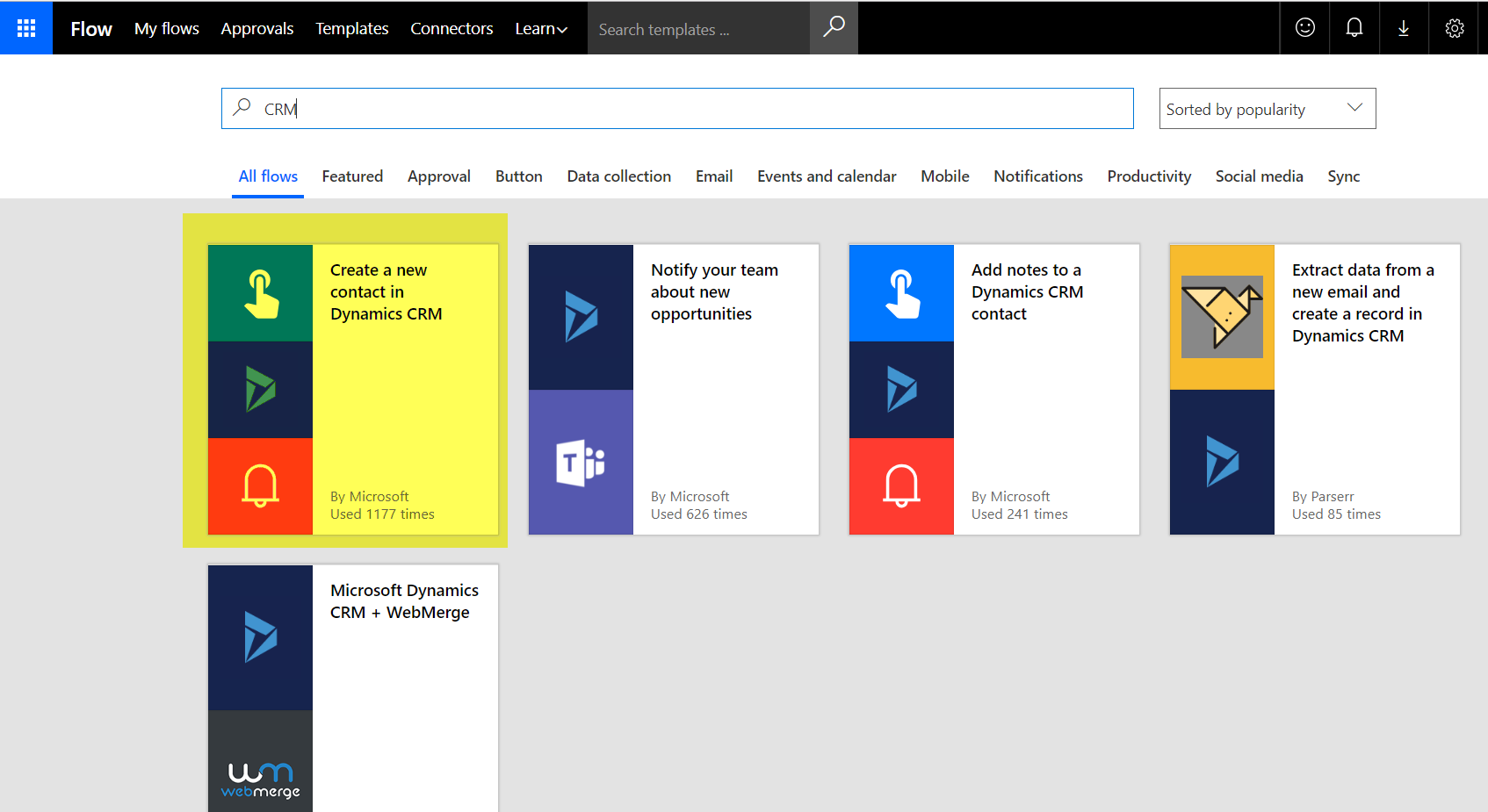new contact in Dynamics CRM
