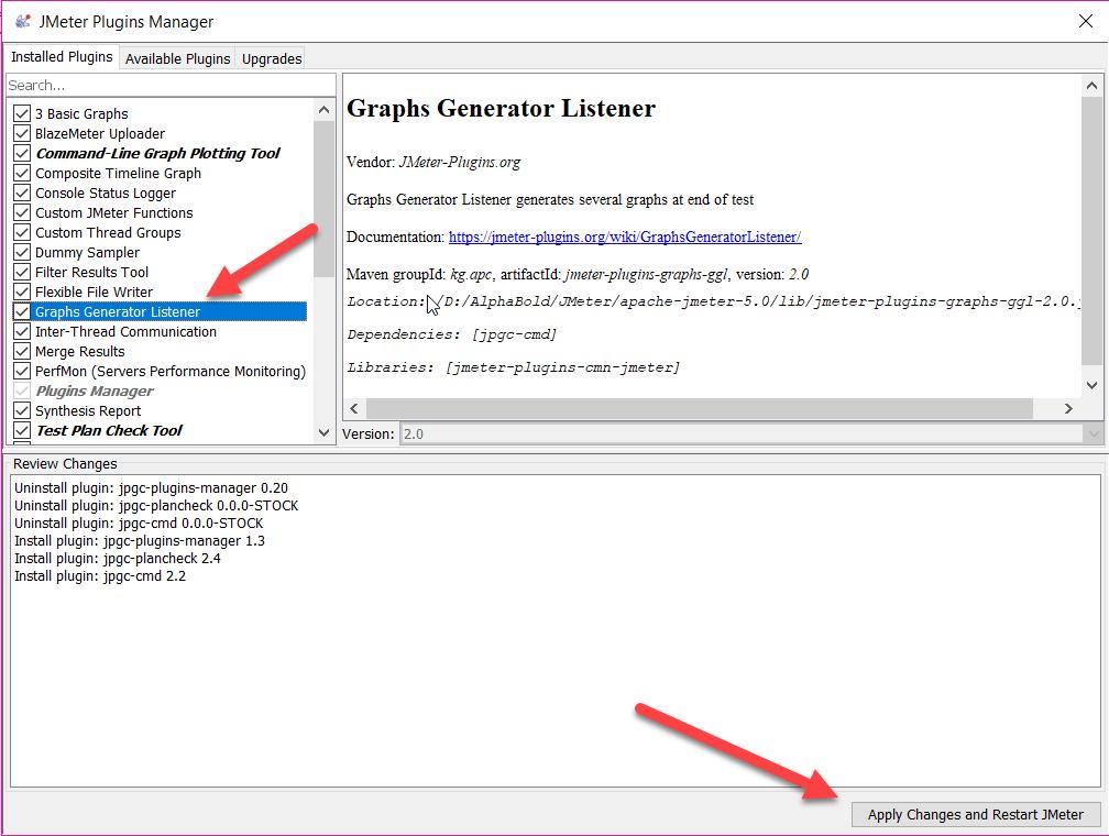 Display graph Generator Listener 2