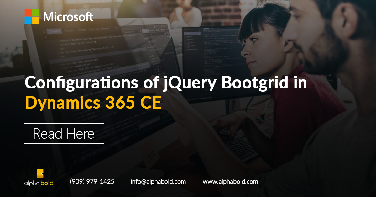 dynamics 365 ce jquery bootgrid