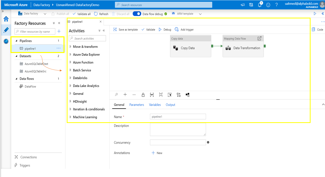 Azure Factory Resources Pipelines